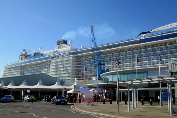 Royal Caribbean Anthem of the Seas at City Cruise Terminal Southampton